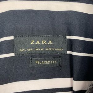 Zara Shirts - Nwt Zara Mens Relaxed Fit Button Down Shirt Large